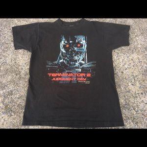 Vintage Terminator 2 1991 t-Shirt T2 Tee Arnold XL